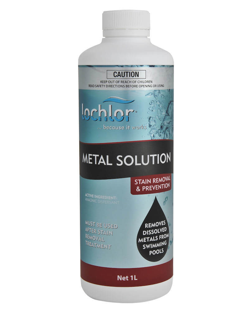 remove metals from pool water
